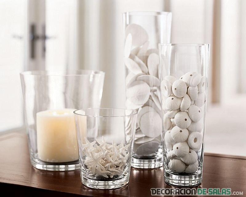 jarrones vidrio plato decorativo