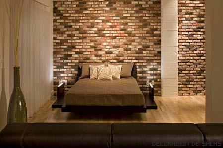 Pared de ladrillos de colores - Color arena pared ...