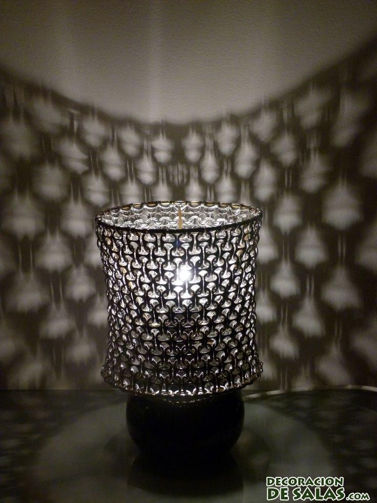 Ideas para hacer l mparas recicladas for Modelos de lamparas