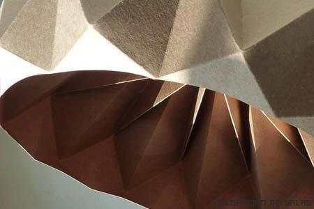 lamparas origami techo