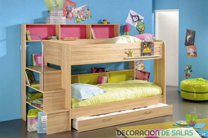 literas mueble madera