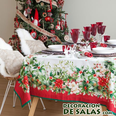 Decora tu mesa de navidad con zara home for Zara home manteles mesa