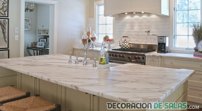 M rmol en la decoraci n de interiores for Marmol para cocina