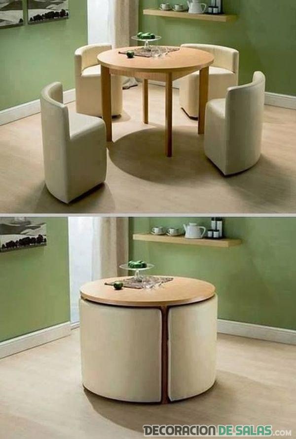 mesa comedor con sillas extraíbles