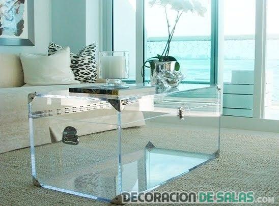 mesa de centro en forma de baúl