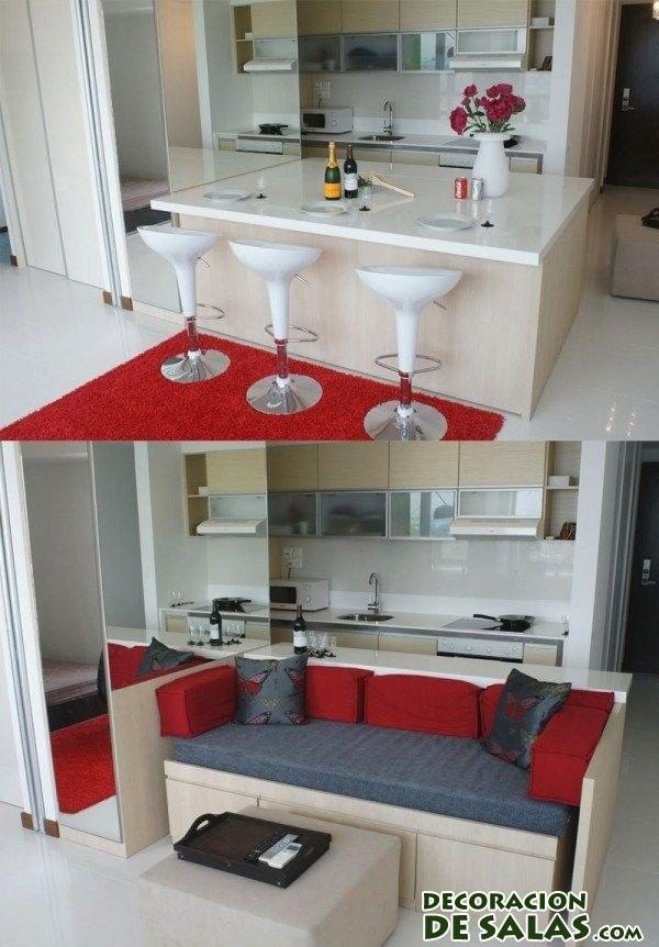 Mesas para comedores peque os - Como decorar salon rectangular ...