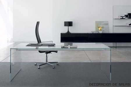 Tipos de mesas de cristal for Mesa cristal oficina