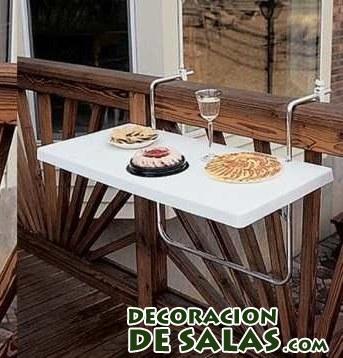 mesa en blanco para terrazas