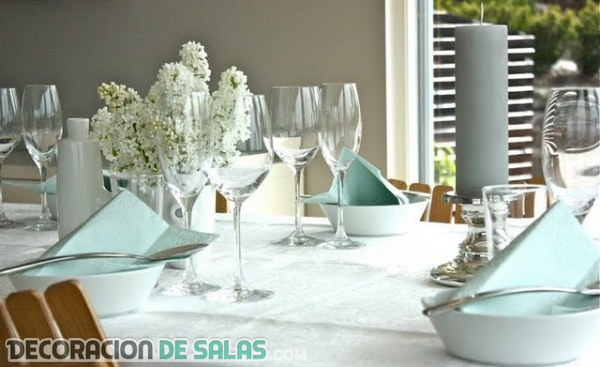 4 ideas para decorar las mesas