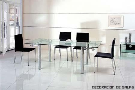 mesa extensible cristal