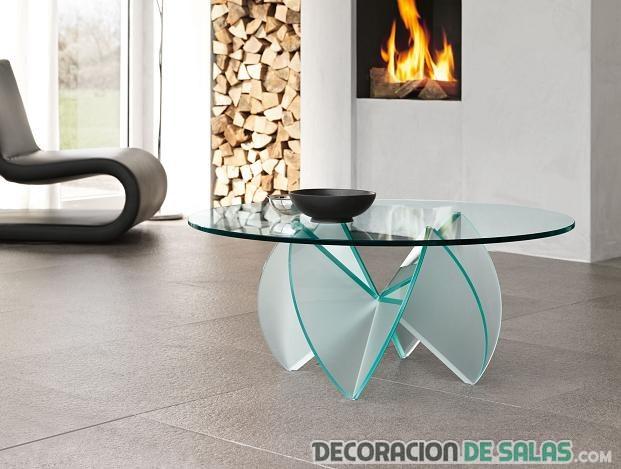 Salones sofisticados con mesas de cristal for Mesas de salon de cristal