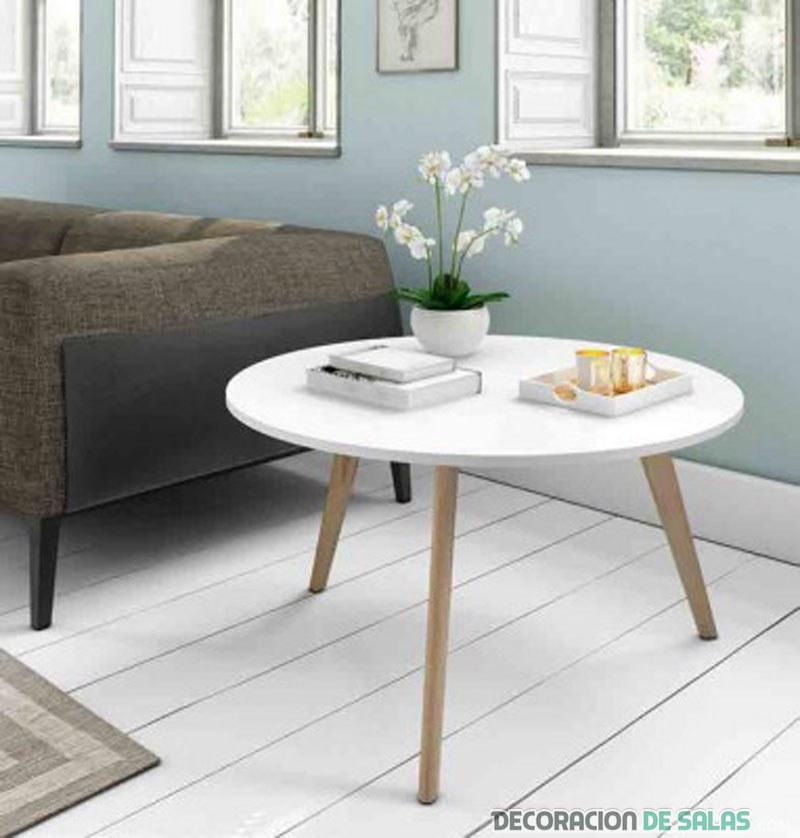 mesa redonda estilo nórdico