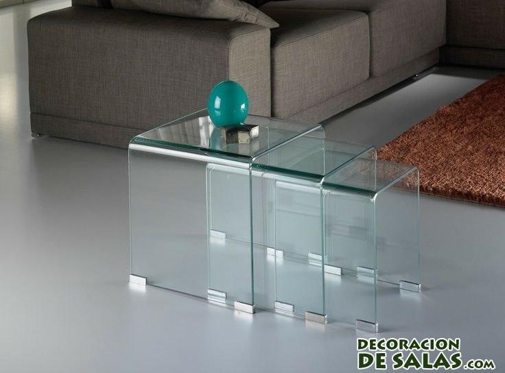 mesas de centro transparentes