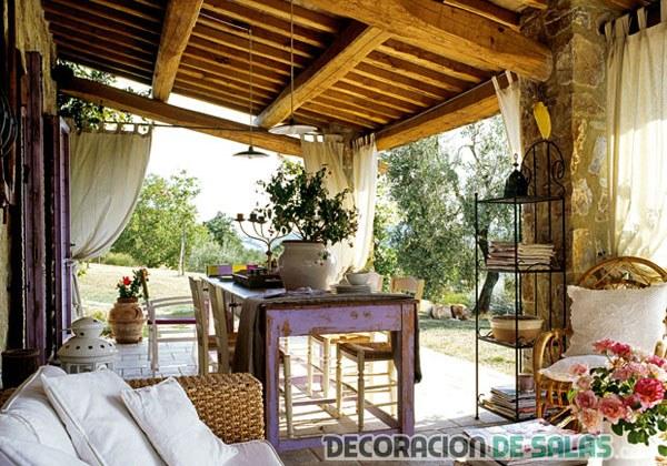 mesas de terraza rústicas