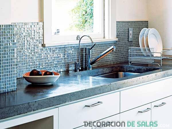 Mosaicos en colores para la cocina - Cenefas modernas para cocina ...