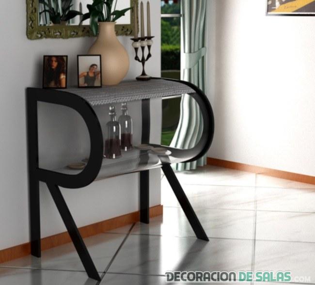 mueble auxiliar con letra R