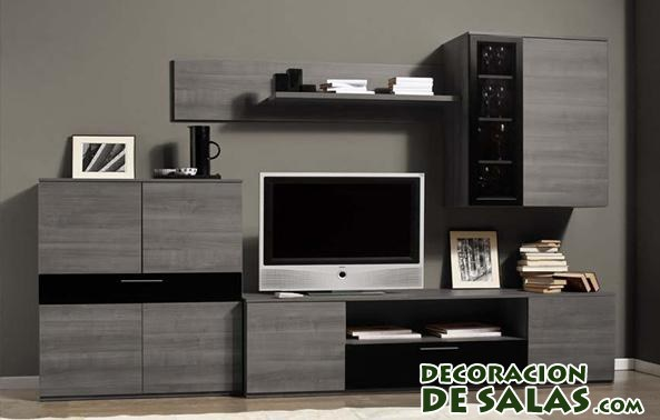 Muebles ceniza para el sal n for Muebles de salon compactos