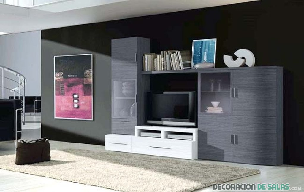 Muebles con estilo para la decoraci n del sal n for Muebles salon gris ceniza y blanco