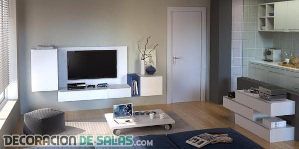 Muebles perfectos para salones peque os - Como decorar un mueble de salon ...