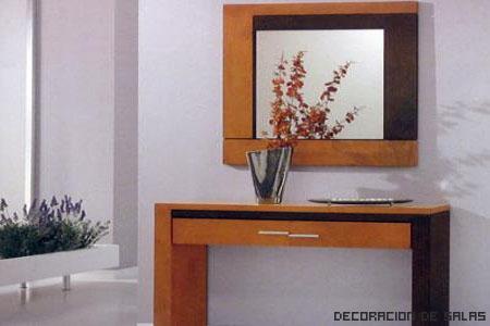 Recibidores y pasillos - Mueble recibidor madera ...