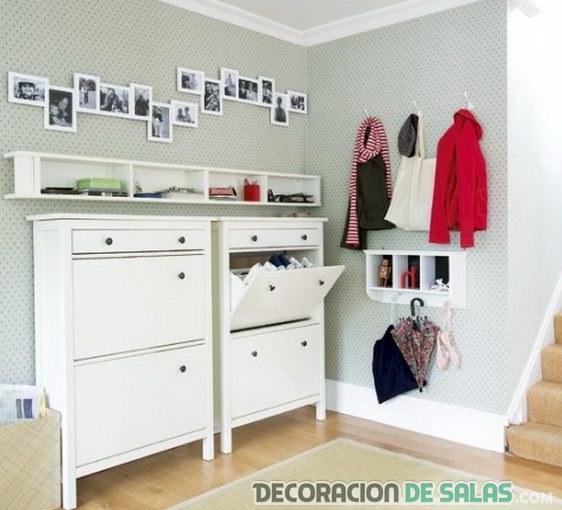mueble recibidor ikea blanco