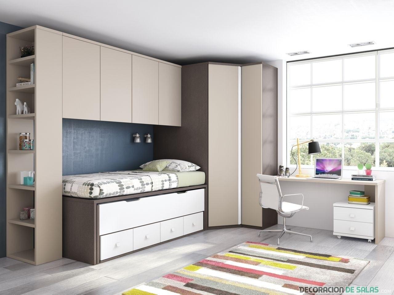 Dormitorios juveniles en colores neutros - Colores de habitaciones juveniles ...