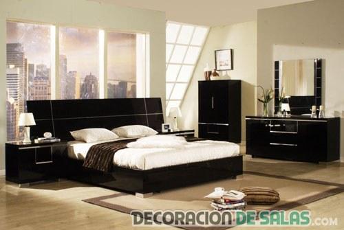 Dormitorios en color negro elegancia y comodidad for Dormitorio negro