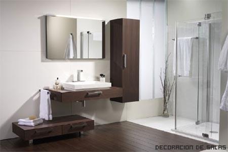 Ba o alquilado - Muebles de bano madera ...