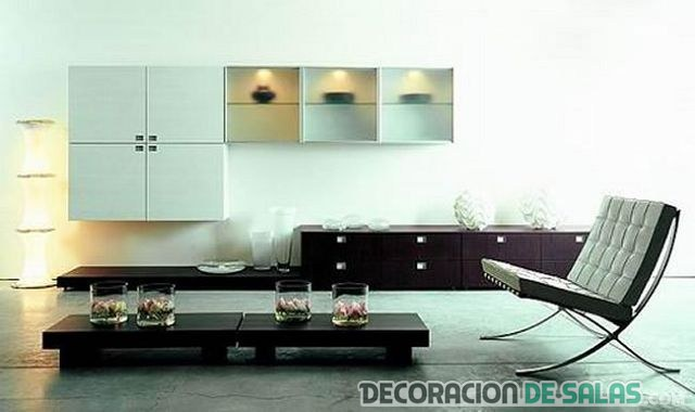 Muebles de sala minimalista