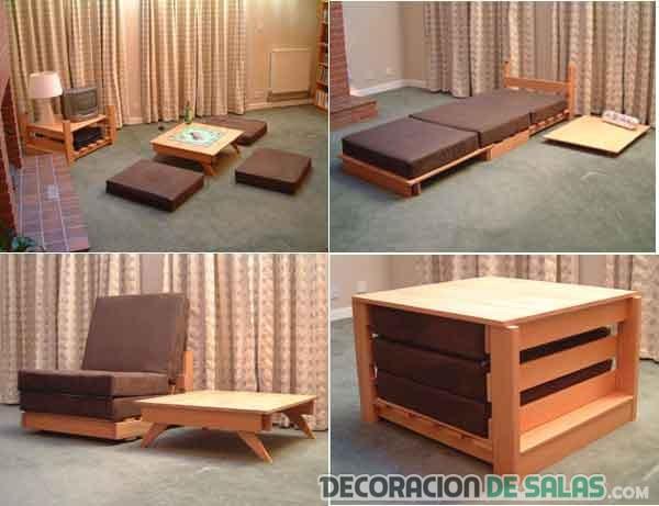 Muebles para los espacios m s reducidos for Dormitorios funcionales