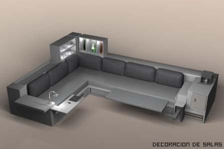 Muebles multifuncionales para espacios reducidos