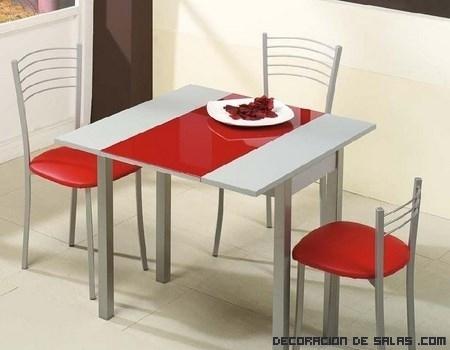Mesas de cocina en color for Sillas de cocina modernas
