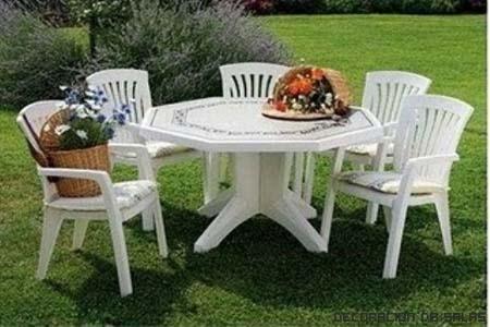Materiales de los muebles de jard n for Muebles terraza plastico