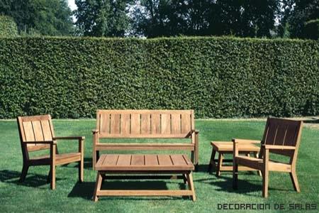 Materiales de los muebles de jard n - Muebles de teca para jardin ...