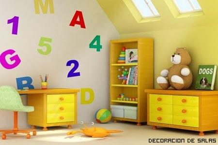 Zonas del cuarto infantil