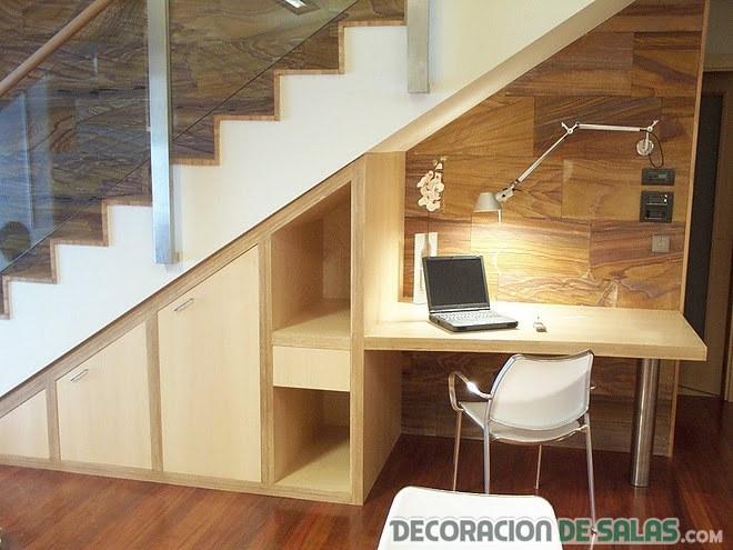 oficina madera minimalista