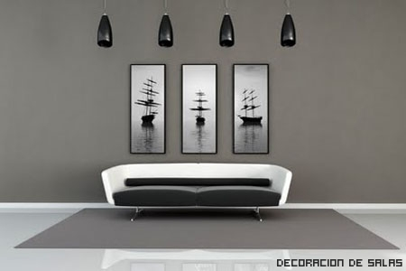 decoracion blanco y gris