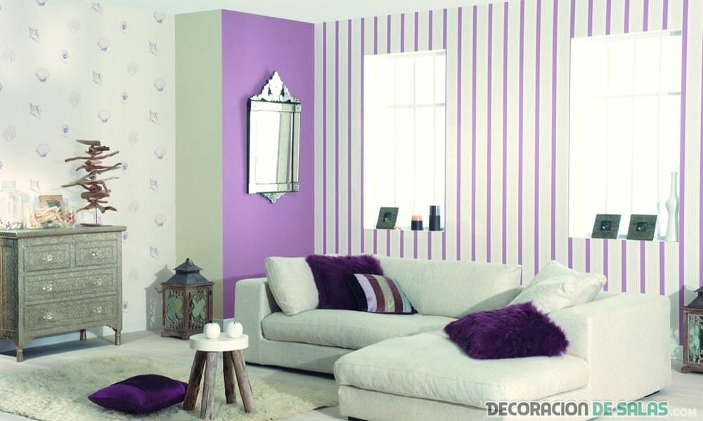 Te gusta el papel pintado para tu decoraci n - Papel pintado pared salon ...
