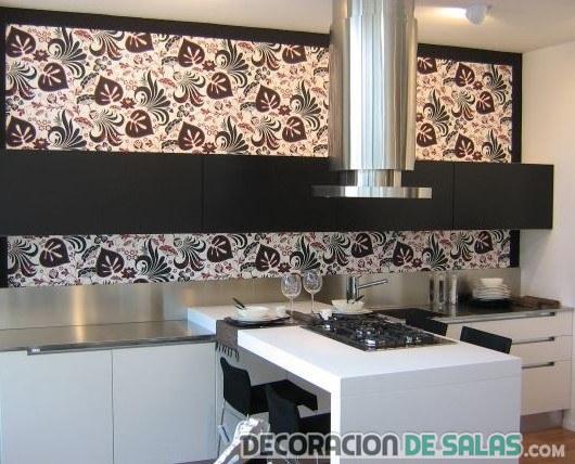 Cocinas marrones for Pisos pintados modernos
