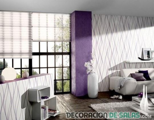 Ideas de papel tapiz para decorar tu sal n - Salones decorados con papel pintado ...