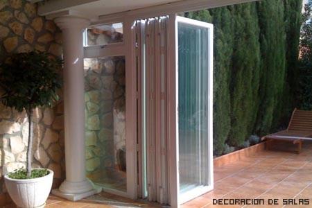 Puertas plegables for Puertas jardin aluminio