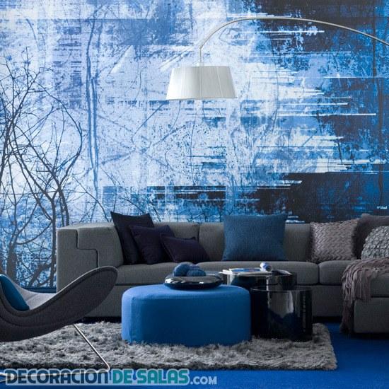 Salones en color azul, un entorno refrescante