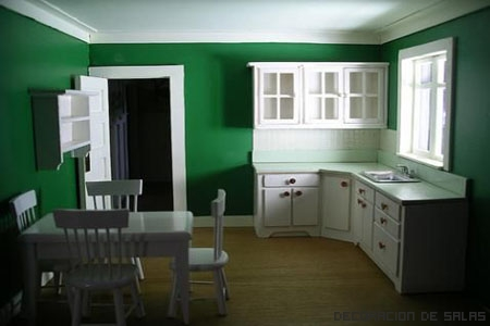 Color para la cocina for Simple green living room designs