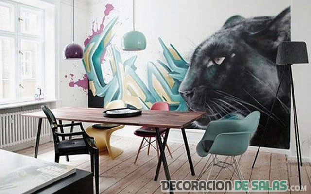 Decoraci n para interiores con graffitis - Graffitis en dormitorios ...