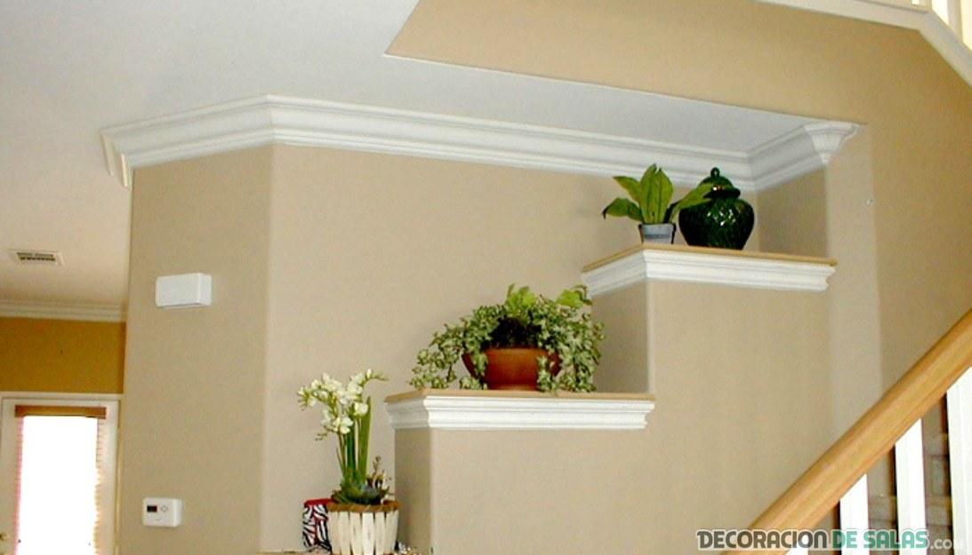 Casas m s elegantes adornadas con molduras - Molduras de escayola modernas ...