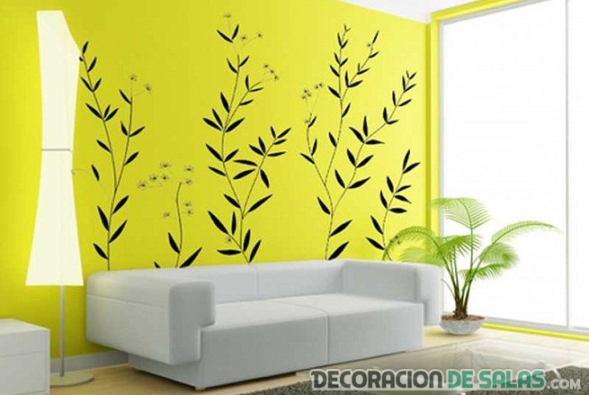 pared con vinilo en color negro