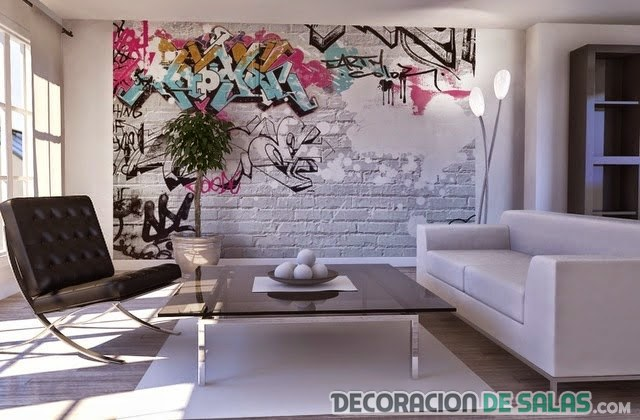 Decoraci n para interiores con graffitis - Graffitis en paredes ...