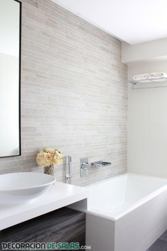 Diferentes texturas para las paredes de tu ba o Revestimiento banos