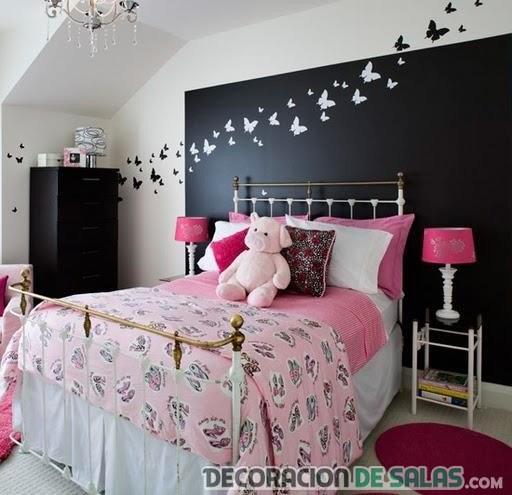 paredes combinadas con mariposas