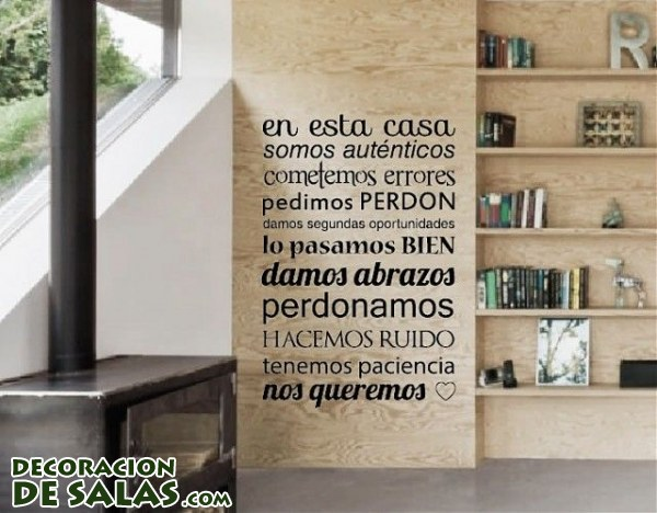 Decora tus paredes con mensajes for Ideas para pintar paredes interiores de casa